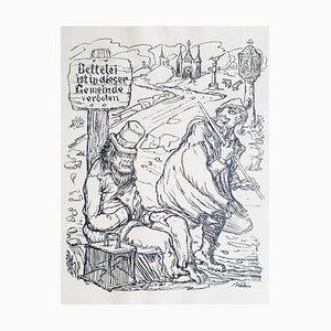 Alfred Leopold Isidor Kubin, Nach Damaskus, Rare Book Illustrated, 1922