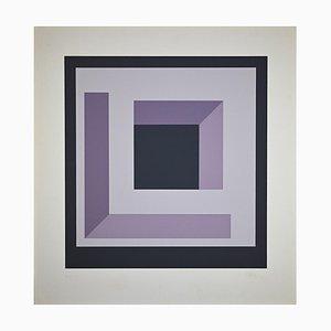 Nato Frascà, Quadratische Komposition, Siebdruck, 1974