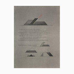 Walter Valentini, Geometric Composition, Lithograph, 1970s