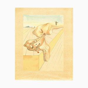 Salvador Dalí, Gianni Schicchi's Bite, Woodcut Print, 1963