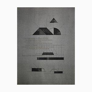 Walter Valentini, Nippur Temple, Etching, 1976