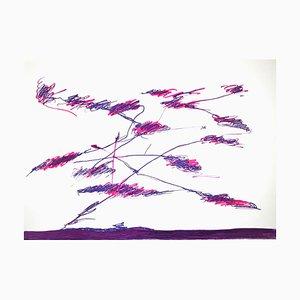 Giulio Turcato, Abstract Violet Composition, Siebdruck, 1976