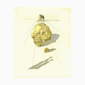 Salvador Dalí, Ugolino und Ruggieri, Holzschnitt Druck, 1963