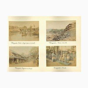 Photos Inconnues, Japonais Antique, Nagasaki, Albumine, 1880s-1890s, Set de 8