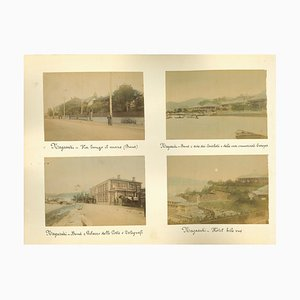 Imprimés Albumine, 1920s-1890s, Set de 8, Inconnu, Vues Anciennes de Nagasaki