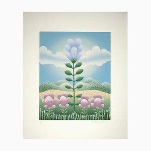 Imprimé Sérigraphie Ivan Rabuzin, Big Flower, 1990s