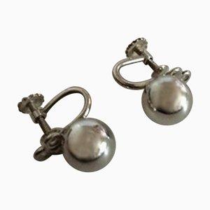 Sterling Silber Ohrring Schrauben von Hans Hansen, 2er Set
