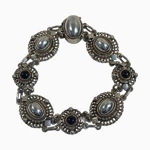 Sterling Silver Bracelet No 419 Black Onyx from Georg Jensen