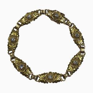 14 Karat Gold Segmented Bracelet with Brilliants No 251 from Georg Jensen