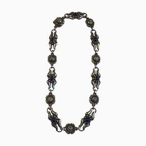 Sterling Silber Halskette mit Lapis Lazuli Nr. 10 von Georg Jensen