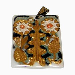 Anton Michelsen Necklace Pendant in Porcelain by Nils Thorsson for Royal Copenhagen