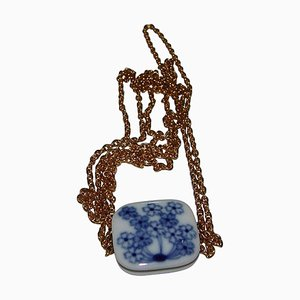 Porcelain Pendant with Chain from Royal Copenhagen