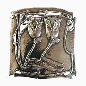 Britische Arts & Crafts Gürtelschnalle in Silber