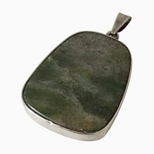 Necklace Pendent in Sterling Silver with Stone by Per Sax Møller