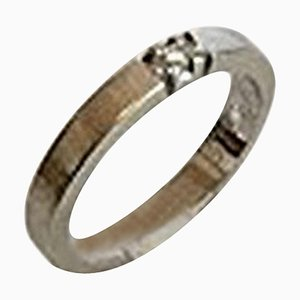 Ring aus Weißgold mit Brilliantem 14 Karat Ring
