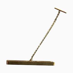 Halskette aus 14 Karat Gold mit Safety Chain Tie Tack