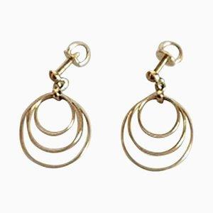 Ohrringe mit Schrauben in 14 Karat Gold