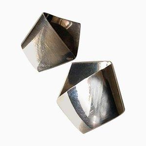 Orecchini nr. 202 Sterling Silver di Georg Jensen, set di 2