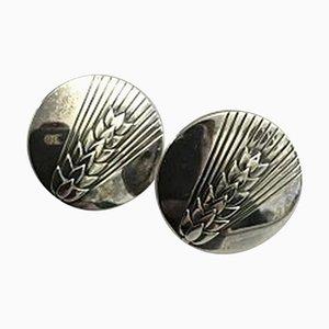 Orecchini # 127b in argento Sterling di Georg Jensen, set di 2