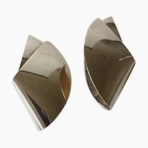 Orecchini nr. 200 in argento di Nanna Ditzel per Georg Jensen