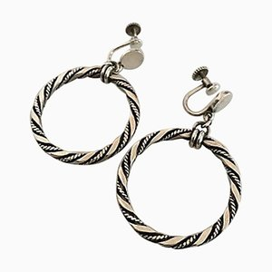 Sterling Silber Ohrringe Schrauben von Georg Jensen