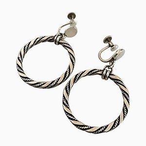 Viti a forma di orecchini in argento di Georg Jensen