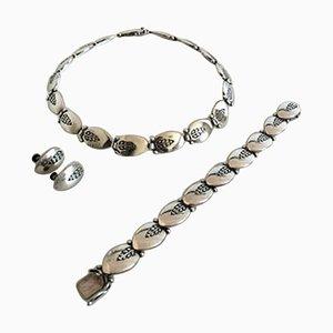 Sterling Silver #94 Jewelry Set from Georg Jensen