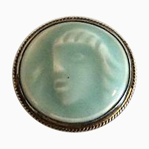 Royal Copenhagen Brooch From Dragsted Silversmithy