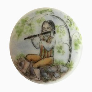 Botón de porcelana de Royal Copenhagen
