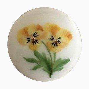 Knopf aus Porzellan mit handbemaltem Blumenmotiv von Royal Copenhagen