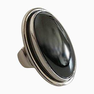 Hematite & Sterling Silver #46e Ring from Georg Jensen