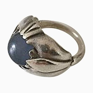 Blue Stone & Sterling Silver #59 Ring from Georg Jensen