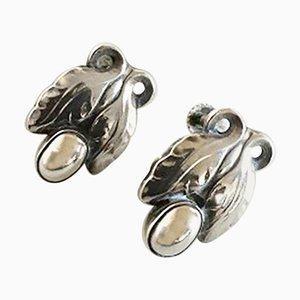 Sterling Silber # 108 Ohrringe von Georg Jensen, 2er Set