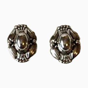 Orecchini annuali in argento di Georg Jensen, 2000, set di 2