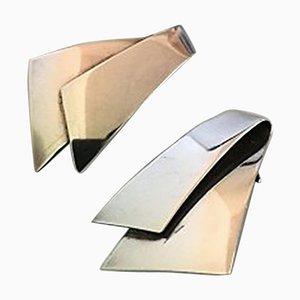 Sterling Silber Ohrclips Nr. 201 von Georg Jensen