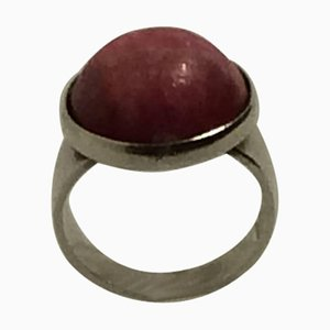 Rose Agate & Sterling Silver Ring from Niels Erik