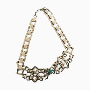 Collana girocollo in agata verde e argento di Georg Jensen