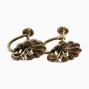 Vergoldete Ohrringe aus Sterlingsilber von Hans Hansen, 2er Set