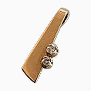 14 Karat Gold and Diamond Pendant from Hans Hansen