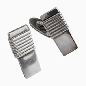 Sterling Silver #80 Cufflinks from Georg Jensen, Set of 2