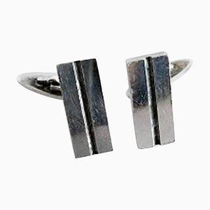 Sterling Silber # 114 Manschettenknöpfe von Georg Jensen, 2er Set