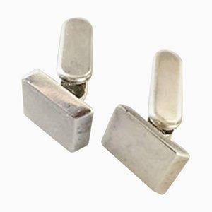 Gemelli in argento di Hans Hansen per Georg Jensen, set di 2