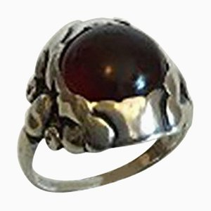 Amber & Sterling Silver #11a Ring from Georg Jensen