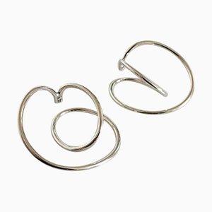 Sterling Silber Ohrringe von Allan Scharff für Hans Hansen