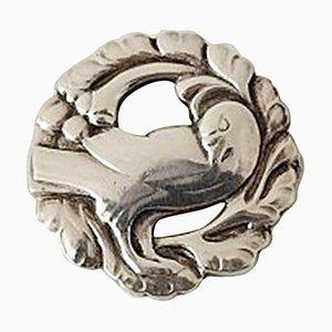 Silberne # 134 Brosche mit Vogel von Georg Jensen