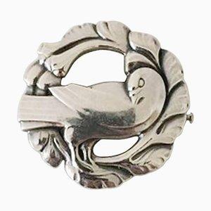 Broche de plata esterlina # 123 con paloma de Georg Jensen