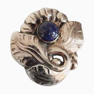 Sterling Silver & Lapis Lazuli #71 Brooch from Georg Jensen