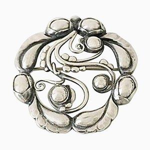 Sterling Silber Brosche # 159 von Georg Jensen