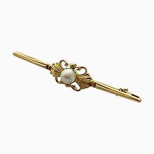 14 Karat Gold & Pearl #110 Brooch from Georg Jensen