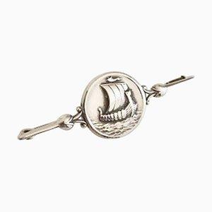 Spilla # 220 in argento Sterling con vichinghe di Georg Jensen